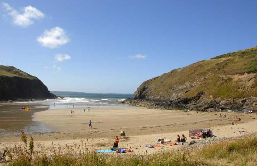 Nolton Haven - a pretty sheltered sandy cove with lots of rock pools at low tide and is popular with families