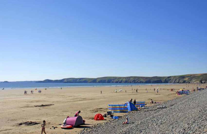 Newgale Sands (Blue Flag) is Pembrokeshire's premier surfing beach