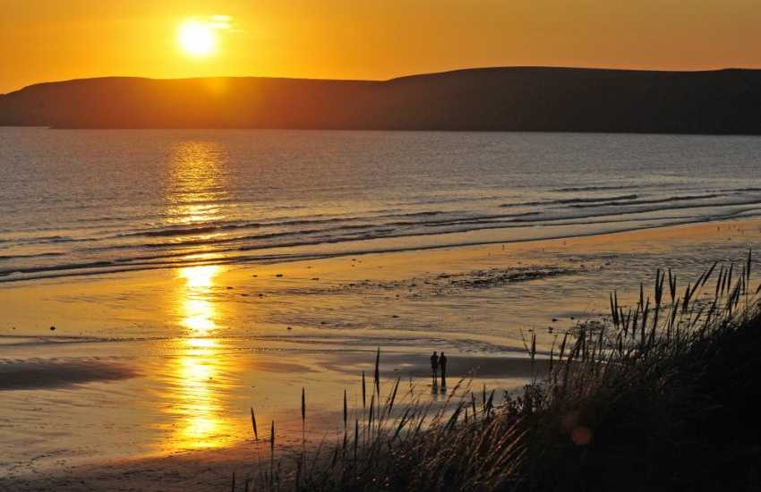 Enjoy beautiful sunsets over the North Pembrokeshire coast
