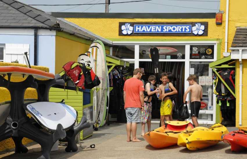 Haven Sports in nearby Broad Haven offer hire facilities for all sorts of water sport activities
