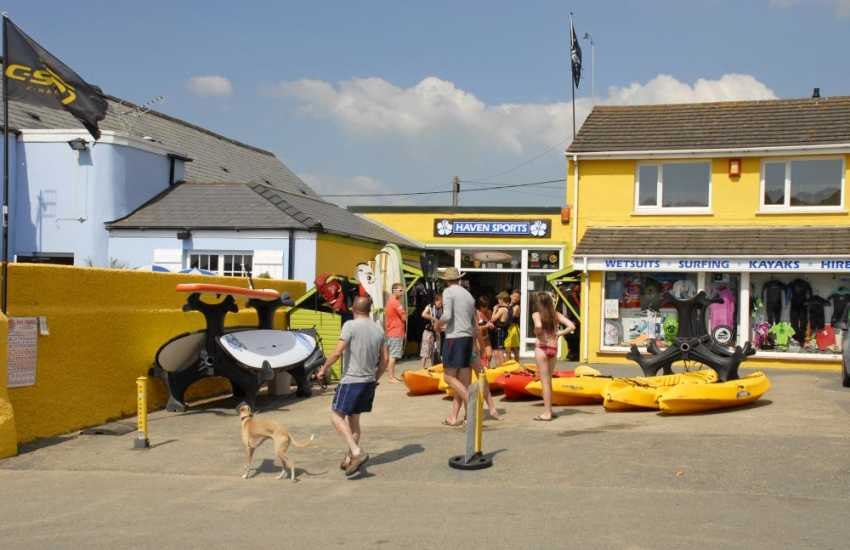 Haven Sports in Broad Haven offer hire facilities for all sorts of water sport activities