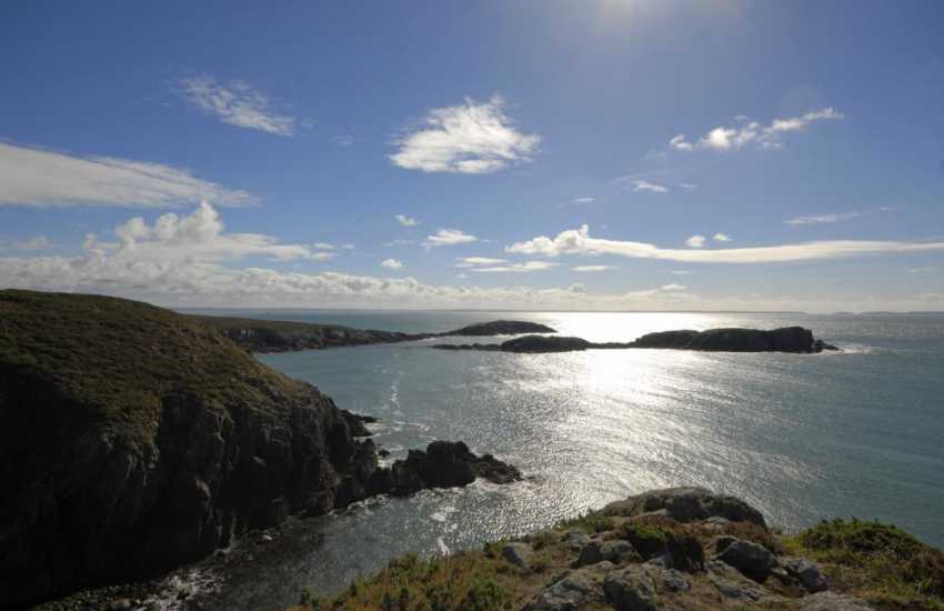 The Pembrokeshire Coast Path - teeming with wildlife and colourful wildflowers fringes the rugged coast with some of Britain's finest scenery to enjoy