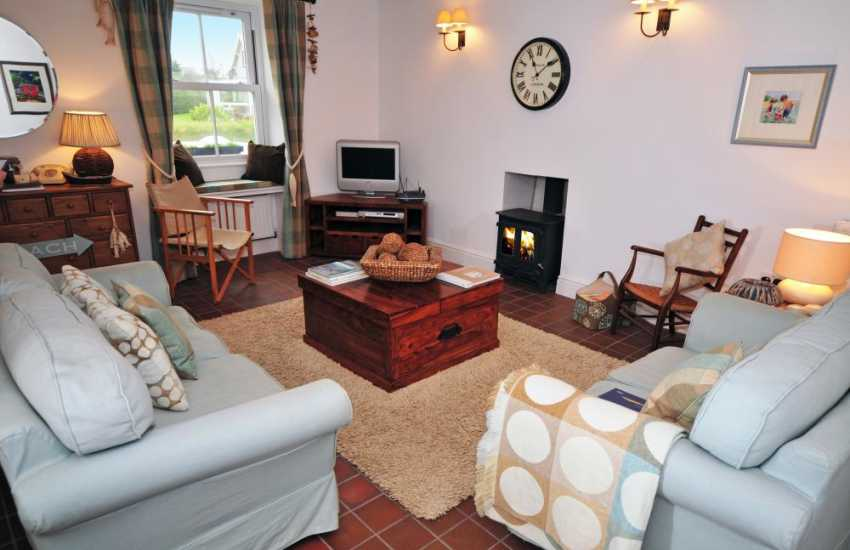 Porthdinllaen holiday cottage - lounge