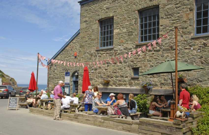 The Shed Fish and Chip Bistro in Porthgain overlooks the harbour - enjoy the friendly service and delicious freshly caught fish served with hand cut chips