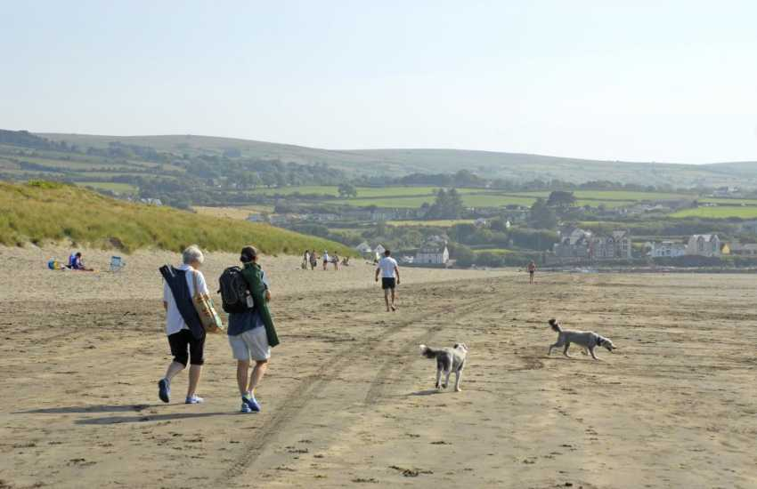 Walking on Newport Sands - Many of our cottages welcome your dogs