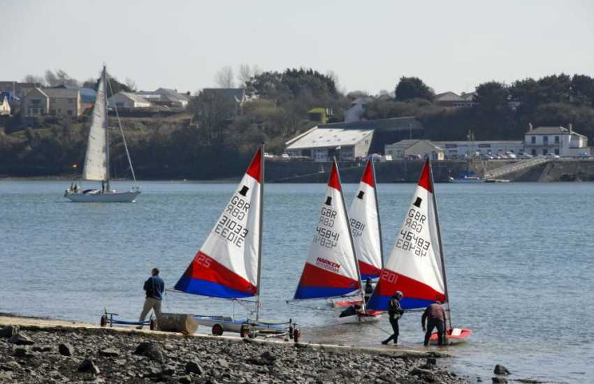 Neyland Yacht Club offers sailing enthusiasts launching facilities, floating moorings and also serves one of the best Sunday lunches in the area!