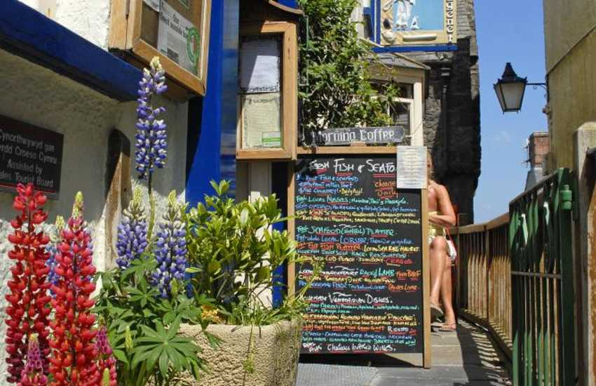 Explore Tenby's narrow cobbled streets lined with boutiques, restaurants, pubs and cafes