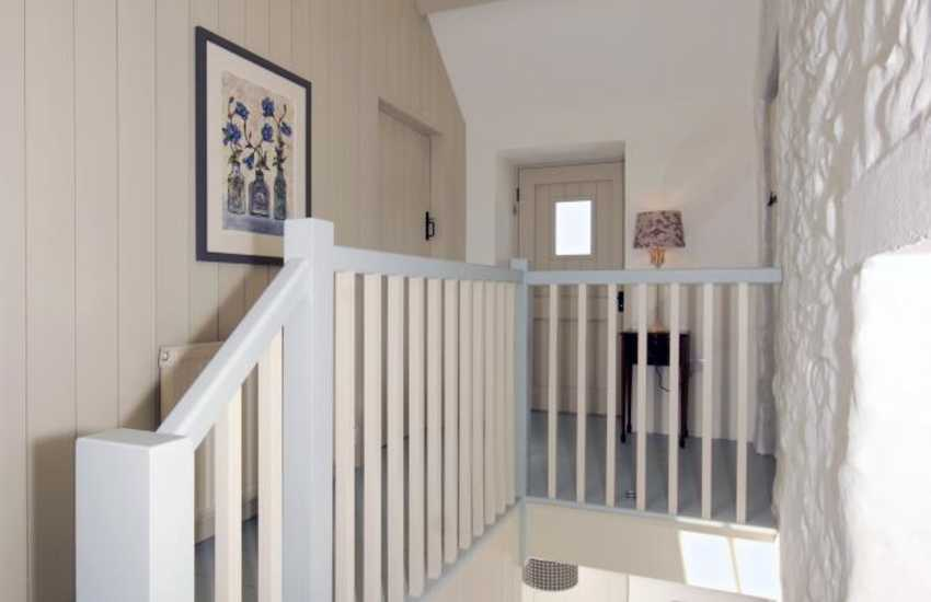 St Davids Peninsula holiday cottage - painted stairwell