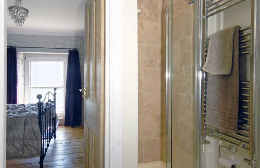 Jack and Jill shower room of riverside holiday home