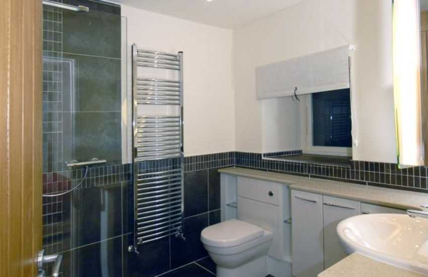 Fishguard holiday cottage - ground floor double en-suite shower