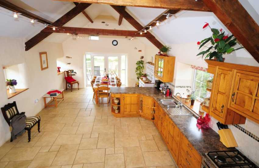 Kitchen in spacious holiday home on the Lleyn Peninsula