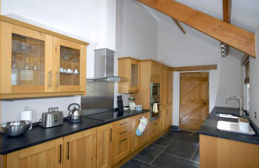 Pembrokeshire self-catering holiday home - modern kitchen/diner