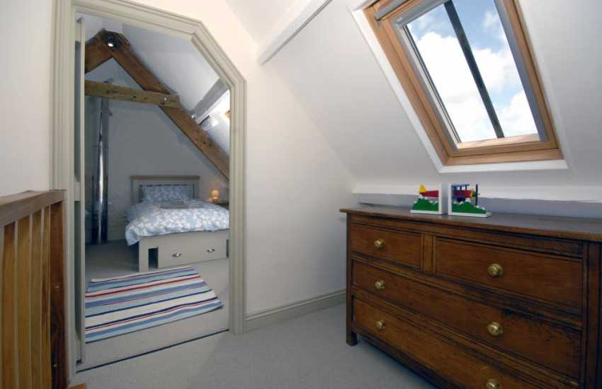 Cosy holiday cottage over looking St Brides Bay - landing