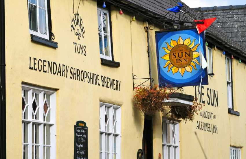 The 15th Century Sun Inn on the High Street, in the historical border town of Clun