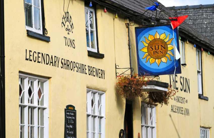 The 15th Century Sun Inn on the High Street, in the historical border town of Clun