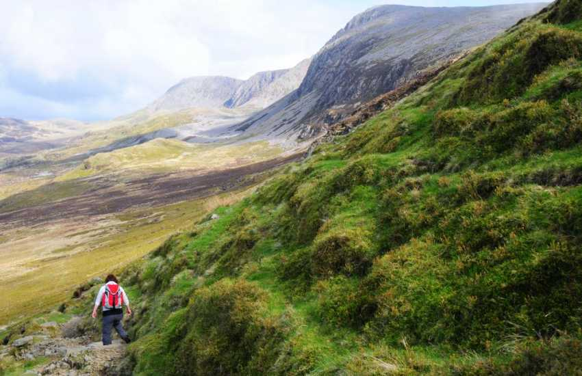 Walking in the Snowdonia hills
