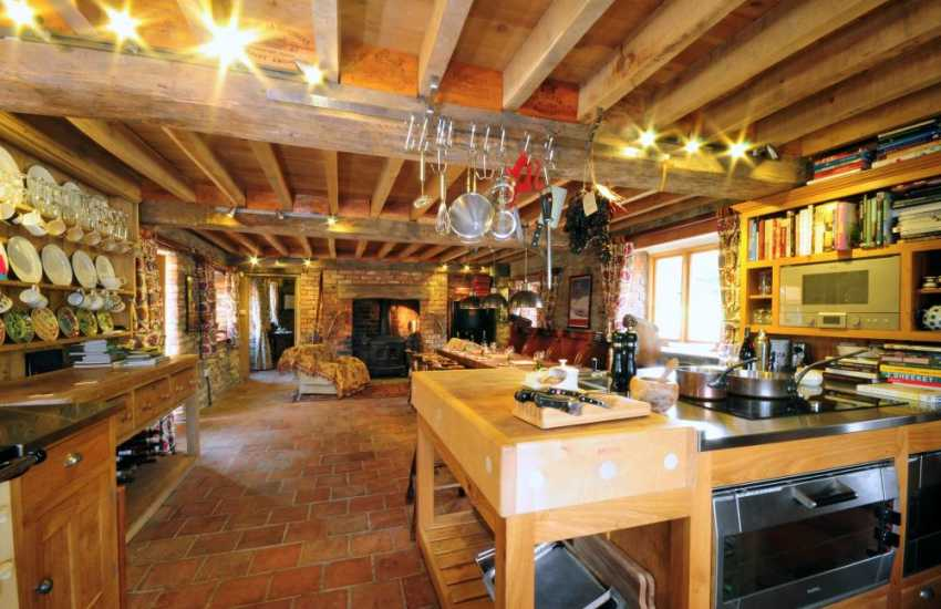 Luxury holiday cottage Welsh Marches - kitchen