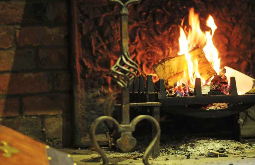 Mid Wales holiday house - open fire