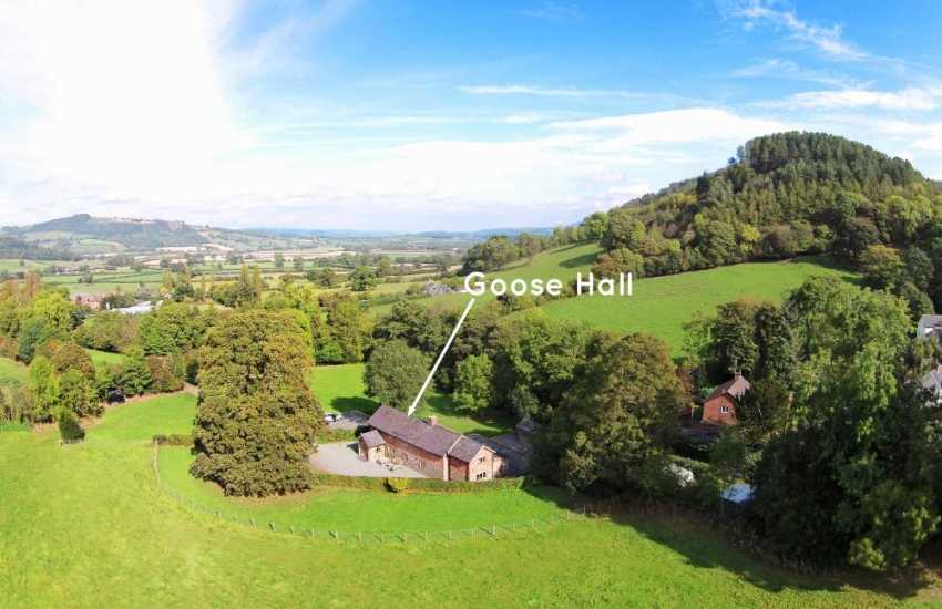 Kerry holiday cottage- aerial view
