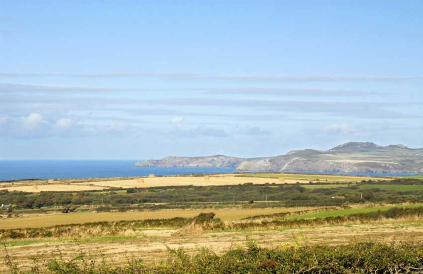 Enjoy the magnificent views to Cardigan Bay and Strumble Head from the cottag