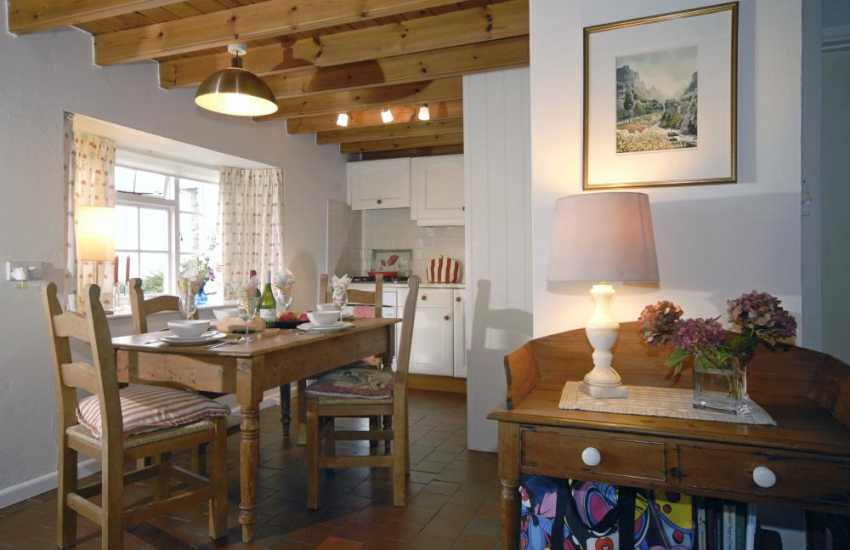 Abercastle self catering cottage - kitchen dining area