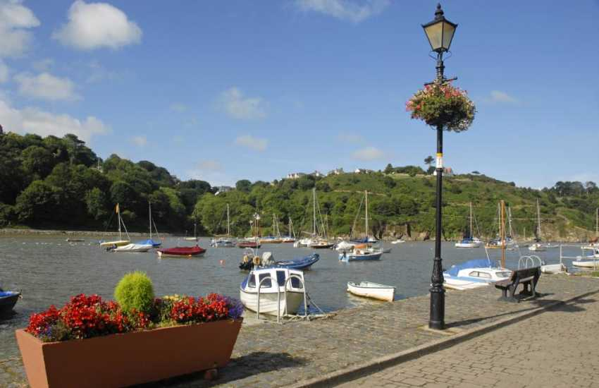 Enjoy the ever changing views over the Gwaun River and Lower Town Harbour from the cottage