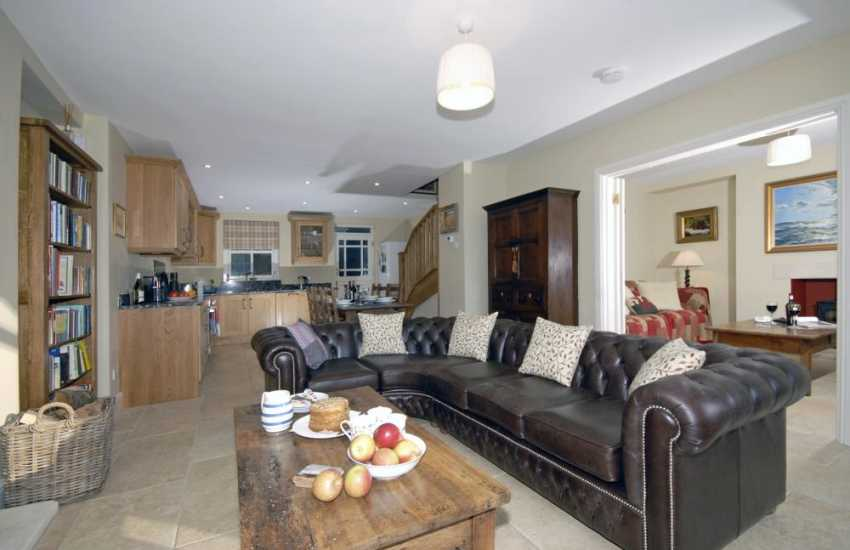Waterside holiday cottage Pembrokeshire with modern open plan living