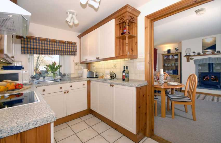 Self-catering Welsh Pembrokeshire cottage - galley style kitchen