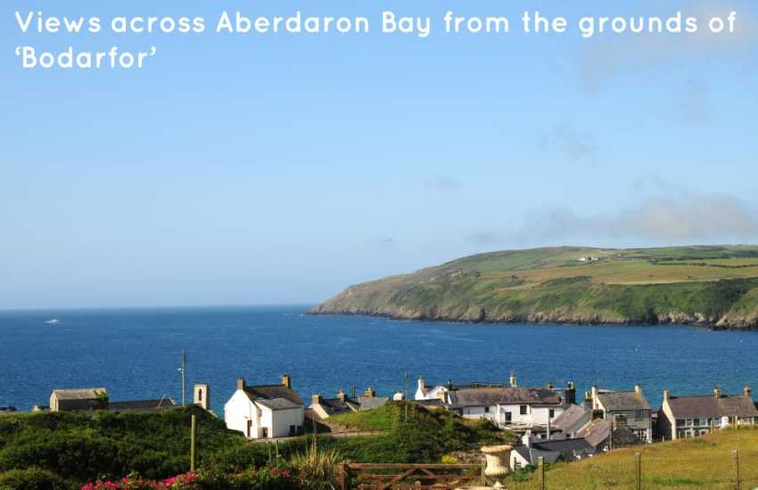 Views across Aberdaron bay from the cottage