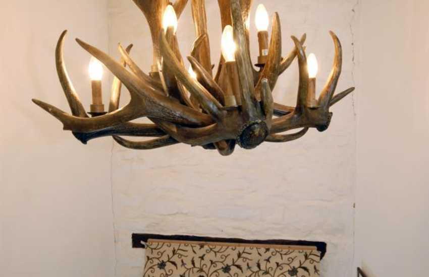 Resin 'antler' chandelier