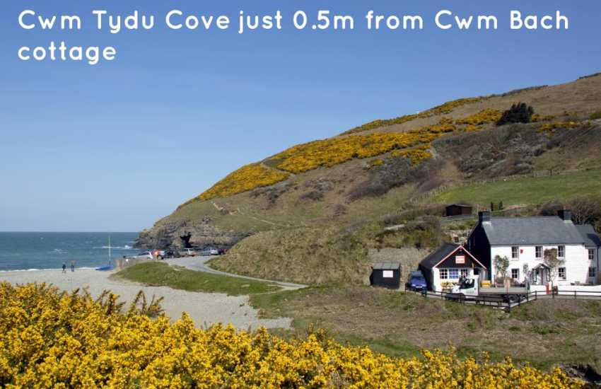 Cwm Tydu Cove, owned by the National Trust, is a tiny smugglers cove which has a lovely tea room located just by the beach
