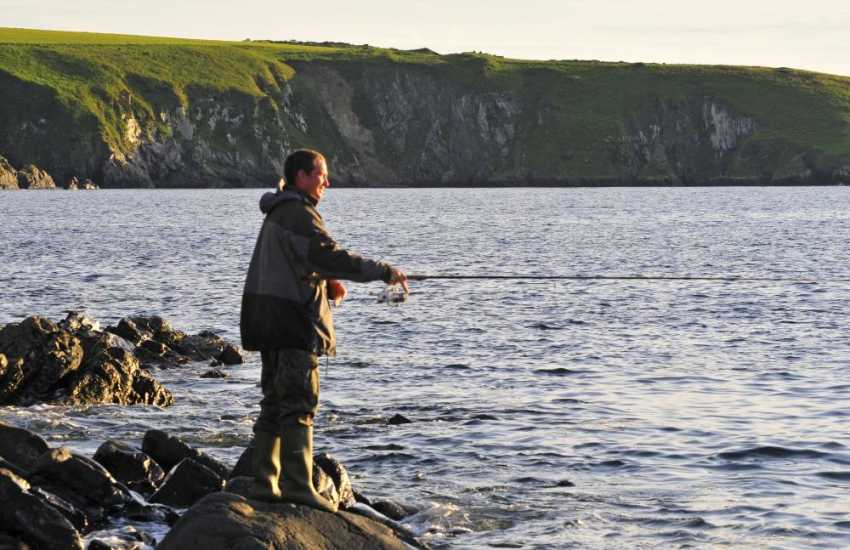 Abermawr, Druidston, Newgale and St Davids - shore fishing around the beaches and rocks is some of the best in Wales