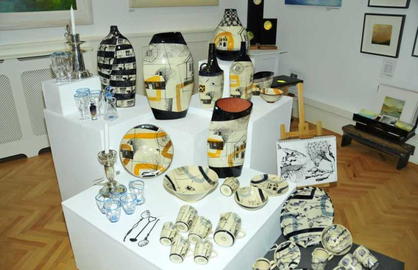 Pembrokeshire has lots of art and craft shops in which to browse for holiday souvenirs