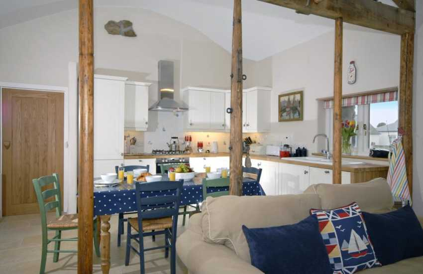 Dale self-catering holiday home - modern open plan living area