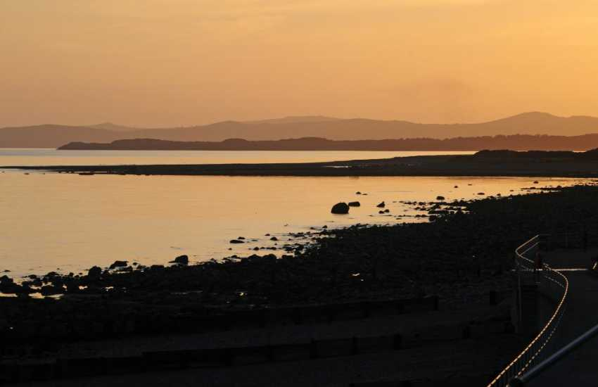 Sunset in Criccieth with the Lleyn Peninsula in the distance