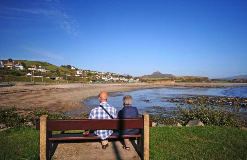 Watching the tide come in on Criccieth beach