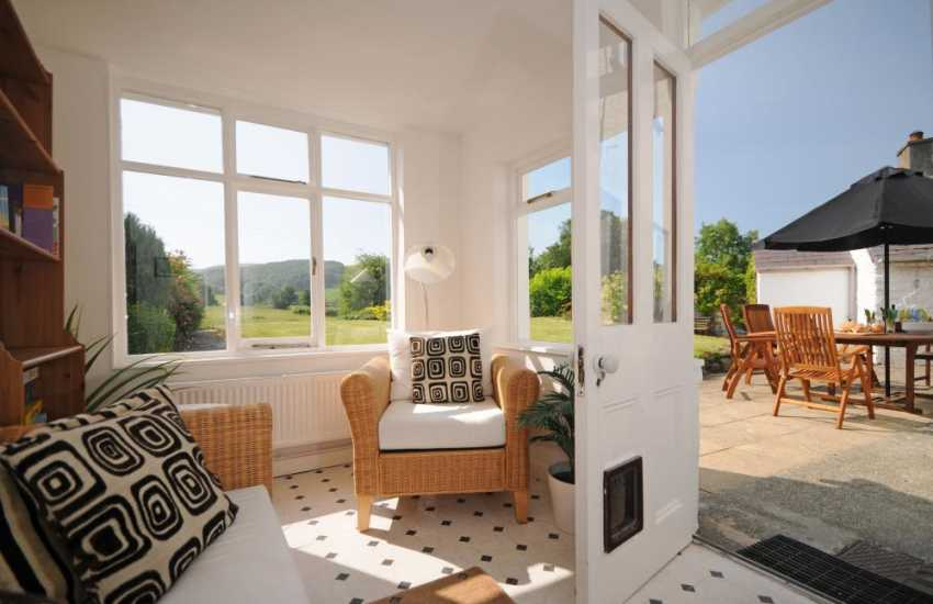 Holiday house Llandovery - sunroom