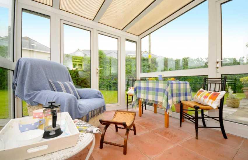 Beach house Wales - sunroom