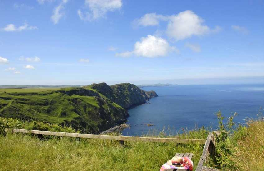 The Pembrokeshire Coast Path overlooking Pwll Deri - magnificent coastal scenery at this point