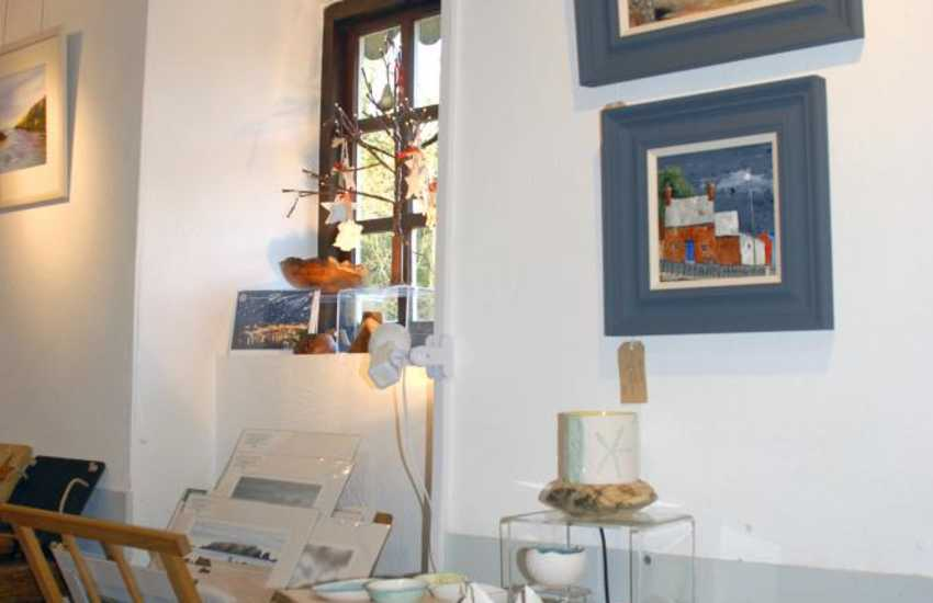 Pembrokeshire has lots of interesting galleries, plus art and craft shops to visit