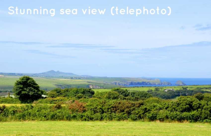 Panoramic views to Aberbach, Abermawr and Mynydd Morfa. (telephoto).