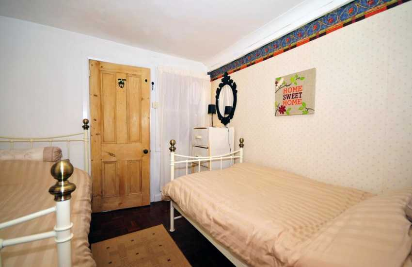 Holiday home in North Wales - twin bedroom