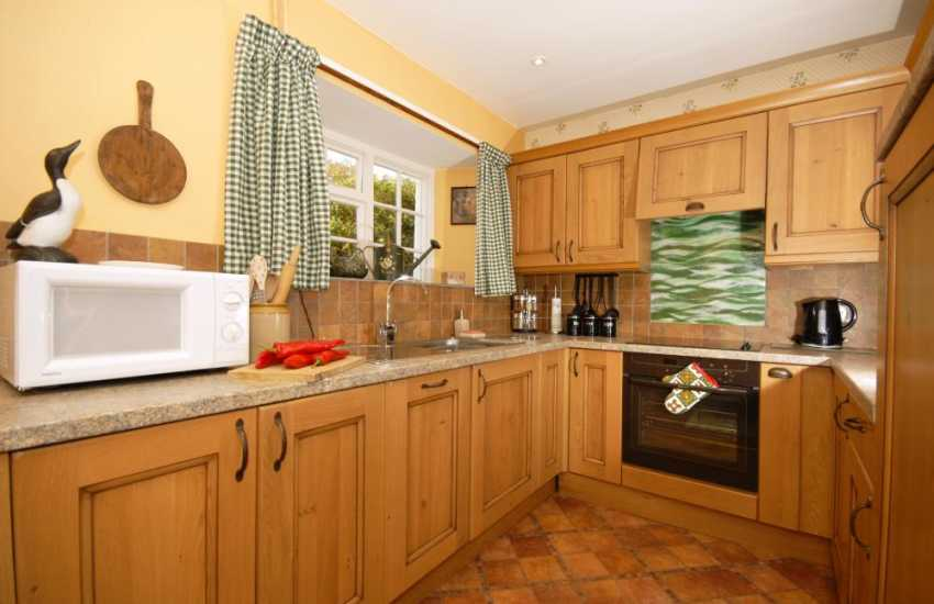 Self-catering holiday cottage in Solva - modern kitchen
