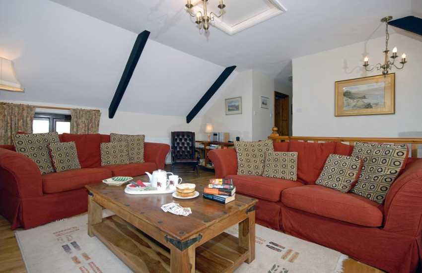 North Pembrokeshire cosy holiday cottage near Whitesands Bay - sitting room with Freeview digital tv
