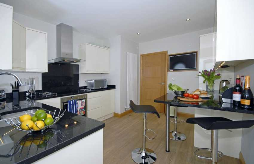 Self-catering ground floor apartment South Pembrokeshire - modern luxury kitchen