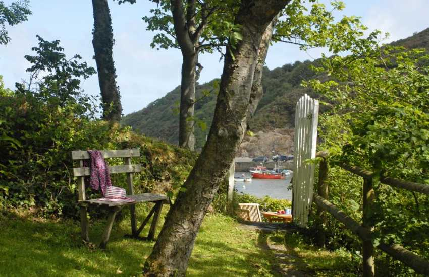 Self catering cottage North Pembrokeshire coast gardens and harbour views