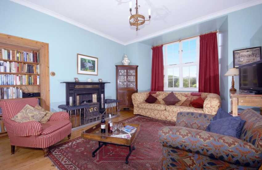 Holiday home in the North Pembrokeshire National Park - drawing room with wood burning stove