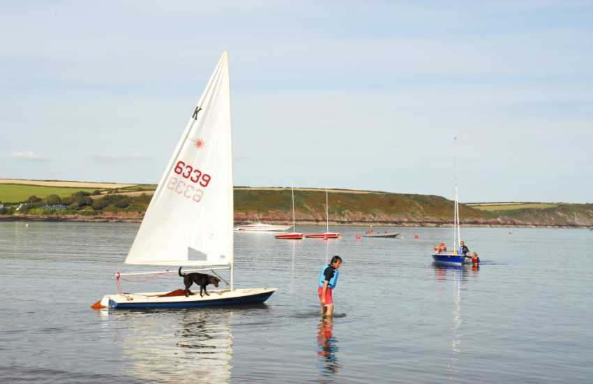 West Wales Wind, Surf and Sailing in Dale offer tuition for all sorts of water sport activities - try a dingy for an hour or two!