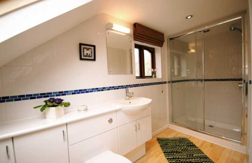 Holiday cottage near Newport-  bathroom