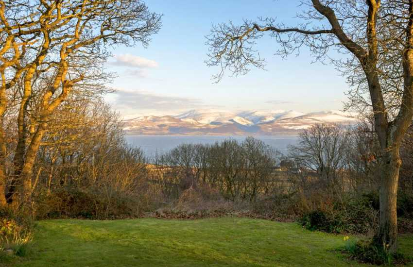 Sea views from the Anglesey holiday cottage garden